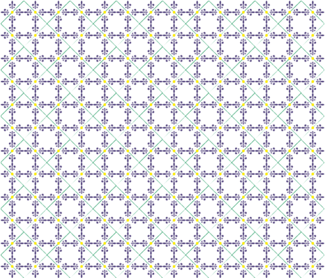 Fleur de lis in tiles fabric by foggli on Spoonflower - custom fabric