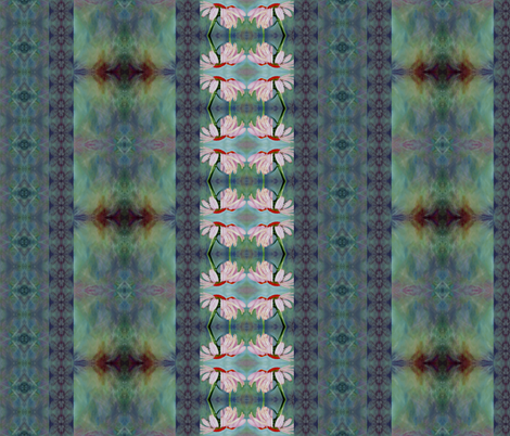 reflection_with_flower fabric by tat1 on Spoonflower - custom fabric