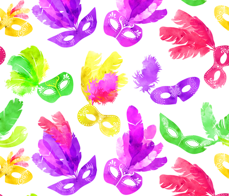 Mardi Gras Masquerade! fabric by sara_berrenson on Spoonflower - custom fabric