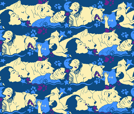 Bedtime Blossom fabric by hakuai on Spoonflower - custom fabric