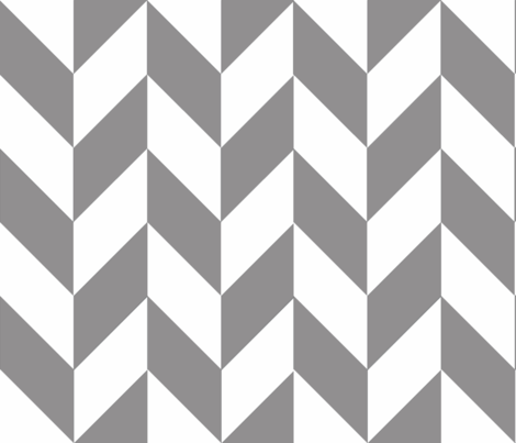 Gray-White_Herringbone fabric by megankaydesign on Spoonflower - custom fabric