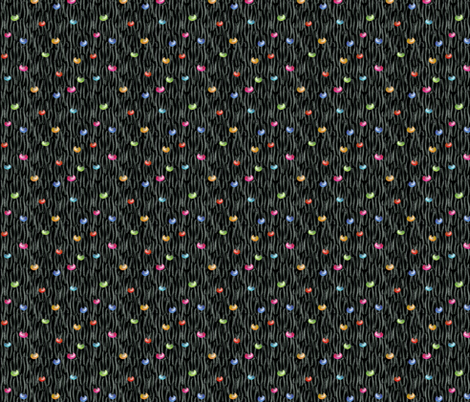 Loose Knit YARN_TANGLE Beaded Black fabric by glimmericks on Spoonflower - custom fabric