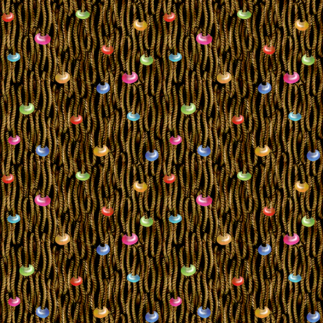 YARN TANGLE Beaded Toast fabric by glimmericks on Spoonflower - custom fabric