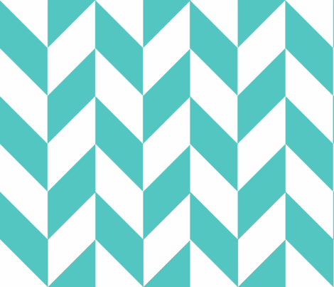 Teal-White_Herringbone fabric by megankaydesign on Spoonflower - custom fabric