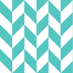 Teal-White_Herringbone