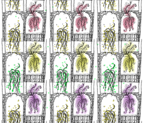 Feathers, Beads & Balconies fabric by spoonnan on Spoonflower - custom fabric