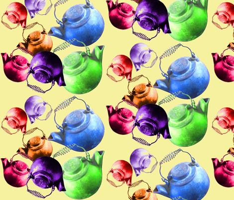 rainbow kettles fabric by nalo_hopkinson on Spoonflower - custom fabric