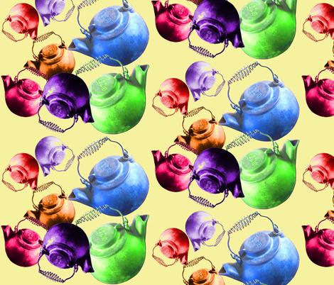 rainbow kettles fabric by nalo_hopkinson on Spoonflower - custom fabric