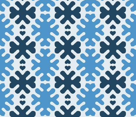 Chunky Snow Flakes fabric by susaninparis on Spoonflower - custom fabric