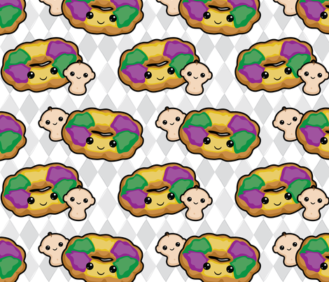King Cake fabric by craftyalien on Spoonflower - custom fabric