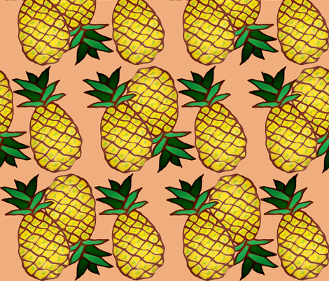 ananas fabric by nalo_hopkinson on Spoonflower - custom fabric