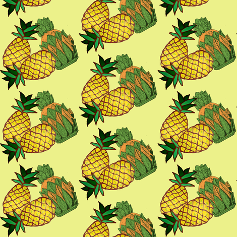 pineapple crowns fabric by nalo_hopkinson on Spoonflower - custom fabric
