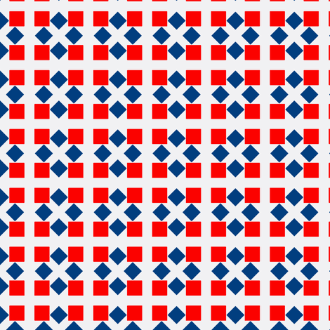 Van Tellingen Red & Blue Squares fabric by stoflab on Spoonflower - custom fabric