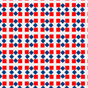 Van Tellingen Red & Blue Squares