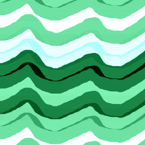 Zig Zag stripe / Emerald fabric by paragonstudios on Spoonflower - custom fabric