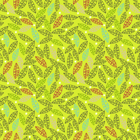 hiking leaves fabric by laura_the_drawer on Spoonflower - custom fabric