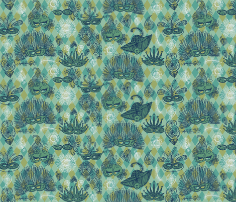 Masquerade ball fabric by laura_the_drawer on Spoonflower - custom fabric