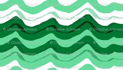 zig zag wave /Emerald