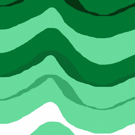 zig zag wave /Emerald fabric by paragonstudios on Spoonflower - custom fabric