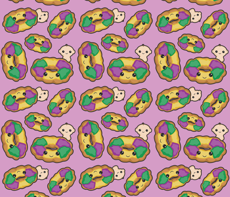 KingCake II fabric by craftyalien on Spoonflower - custom fabric