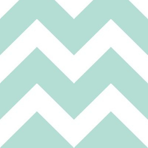 Mint Chevron - Large Scale