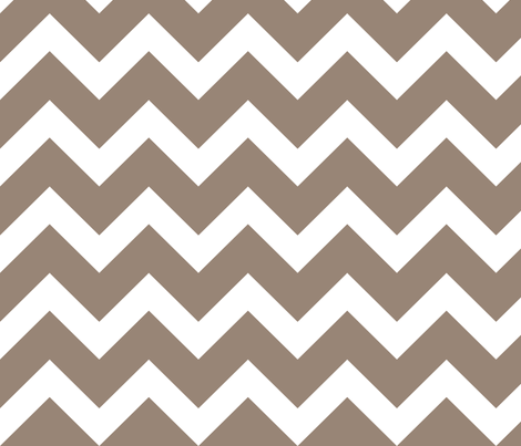 Mocha Brown Chevron - Large Scale fabric by sweetzoeshop on Spoonflower - custom fabric