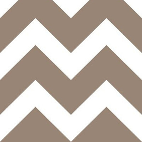 Mocha Brown Chevron - Large Scale