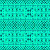 SEA GREEN GEOMETRIC SHAPES