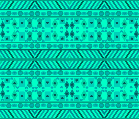 SEA GREEN GEOMETRIC SHAPES fabric by bluevelvet on Spoonflower - custom fabric