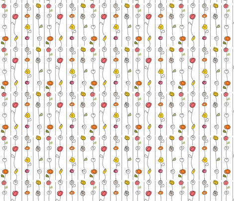 WaveHillStripeWarm fabric by roxanne_lasky on Spoonflower - custom fabric