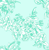 Teal Tiffany's Blue Floral