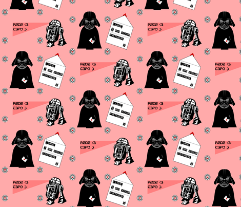 Star Wars Love Letters fabric by ninjaauntsdesigns on Spoonflower - custom fabric