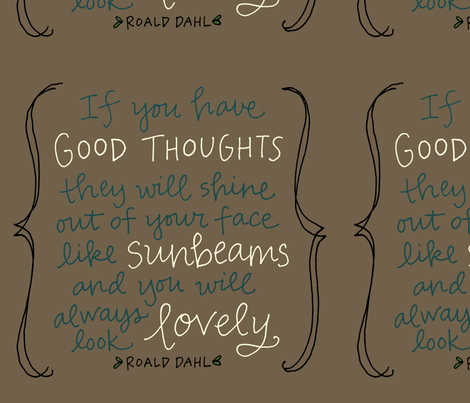 Wall Decal:  good thoughts fabric by lettergirl on Spoonflower - custom fabric