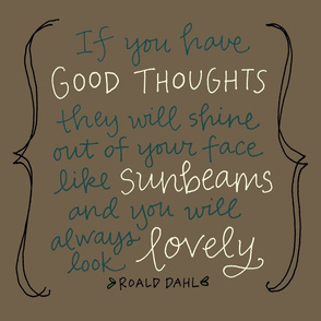 Wall Decal:  good thoughts