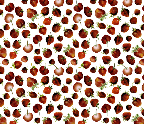 Strawberry 1899 No. I fabric by maxje on Spoonflower - custom fabric