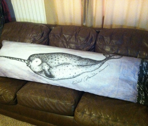 Narwhal Body Pillow Cover