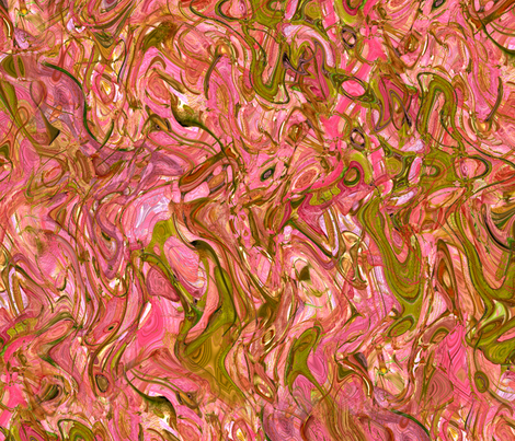 """Marbled Pinks And Greens"" fabric by jeanfogelberg on Spoonflower - custom fabric"