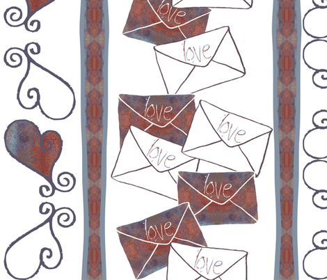love_letters fabric by tat1 on Spoonflower - custom fabric
