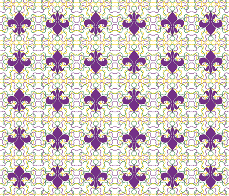 Beads and Fleur de lis fabric by empireruhl on Spoonflower - custom fabric
