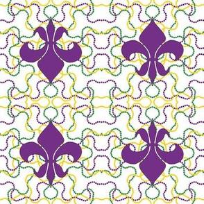 Beads and Fleur de lis