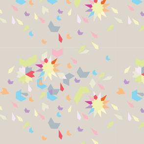 Geometric Explosion Pastel