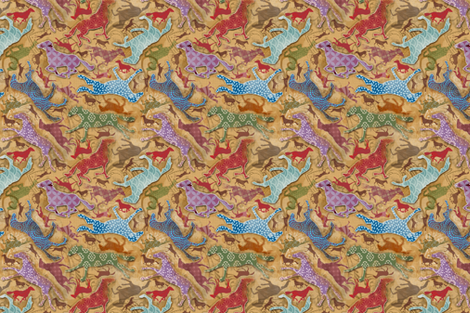 antique horses fabric by motyka on Spoonflower - custom fabric