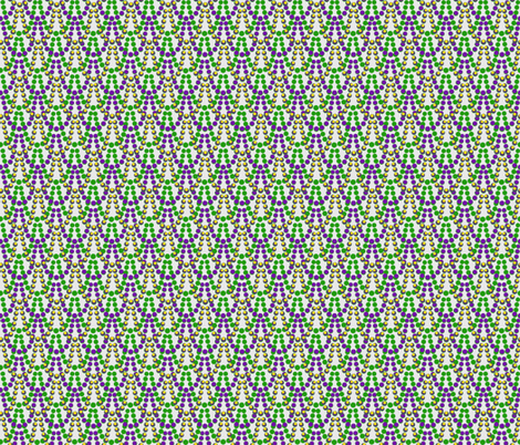 Mardi Gras Beads - small fabric by cricketswool on Spoonflower - custom fabric