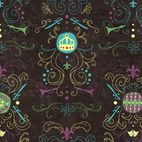 Vieux Carré Damask fabric by jennartdesigns on Spoonflower - custom fabric