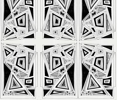 Geometric Doodle fabric by sarahdesigns on Spoonflower - custom fabric
