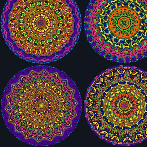 Psychedelic Yoyos fabric by elarnia on Spoonflower - custom fabric
