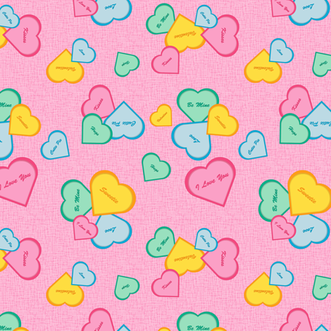 Valentines - pink fabric by jjtrends on Spoonflower - custom fabric