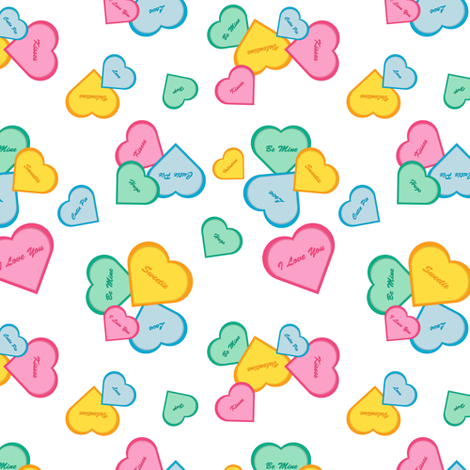 Valentines fabric by designtrends on Spoonflower - custom fabric