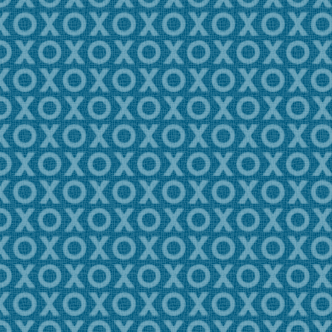 Hugs & Kisses - blue fabric by designtrends on Spoonflower - custom fabric
