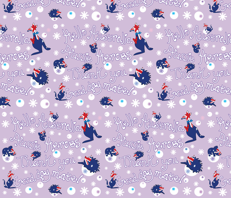 Hello Australia Aussie Heroes 2 fabric by cutiecat on Spoonflower - custom fabric